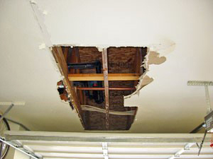 Garage Ceiling Hole